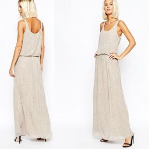 ASOS SELECTED FEMME Calissa Beaded Maxi Dress